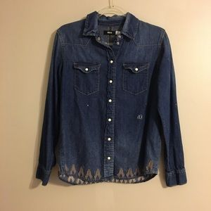 BDG Distressed Denim Shirt
